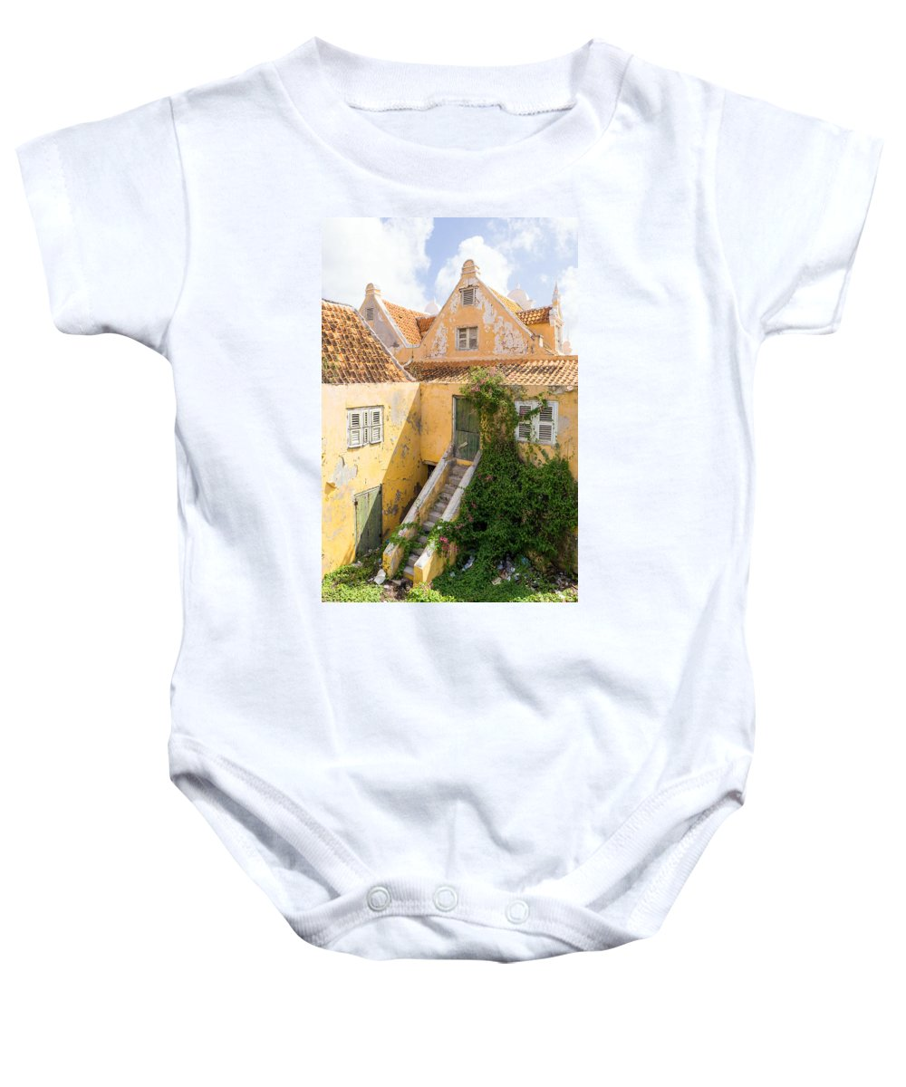 Architecture Baby Onesie featuring the photograph Otrobanda Curacao by For Ninety One Days
