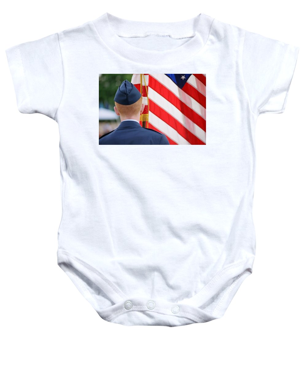 Flag Baby Onesie featuring the photograph Our Colors by Spirit Vision Photography
