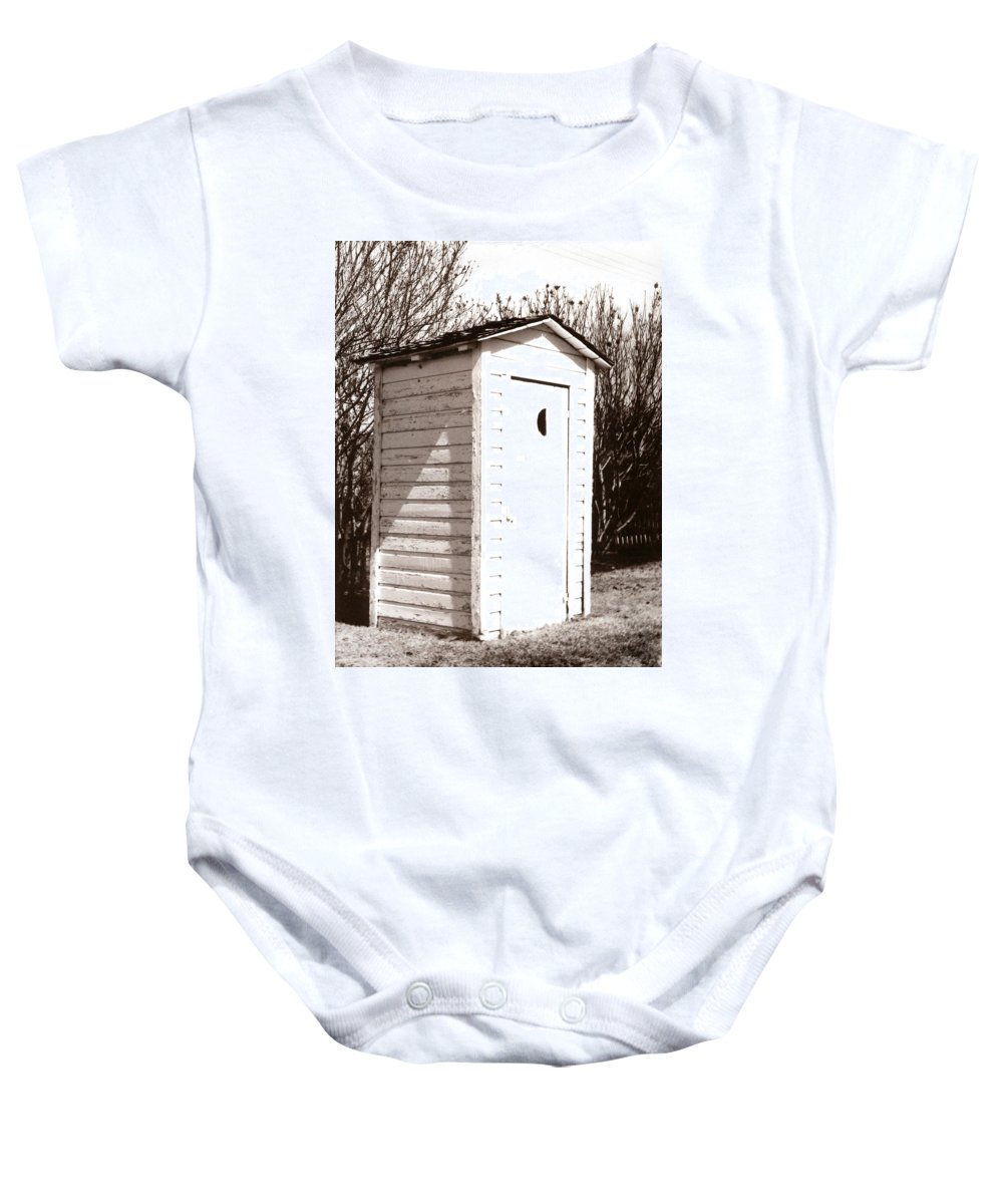 Outhouse Baby Onesie featuring the photograph Outhouse by Marcin and Dawid Witukiewicz
