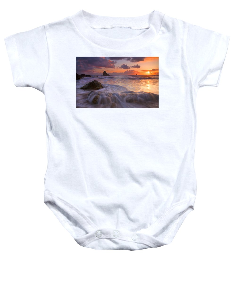 Sunset Baby Onesie featuring the photograph Overcome by Mike Dawson