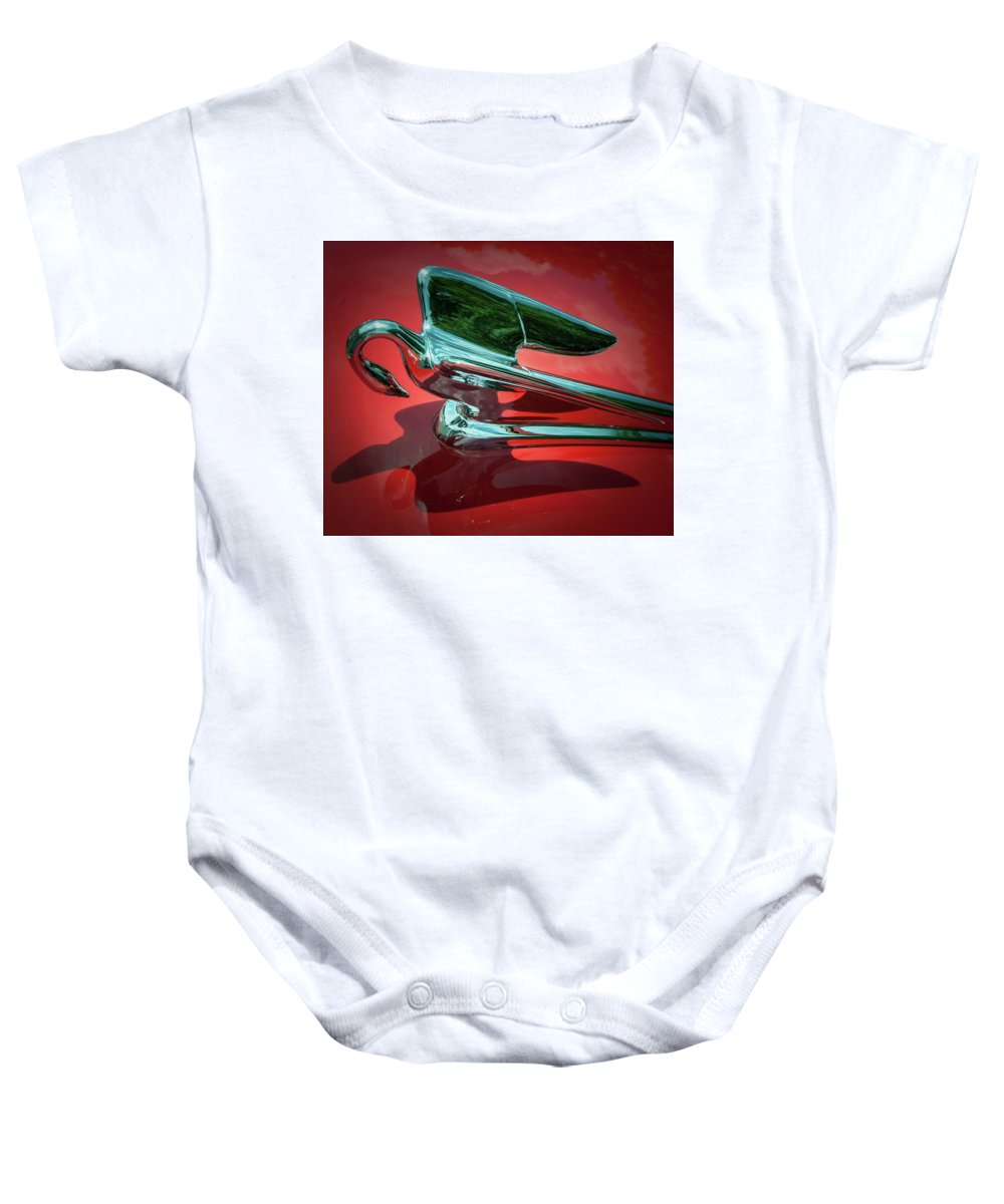 Packard Baby Onesie featuring the photograph Packard Caribbean Hood Ornament by Samuel M Purvis III