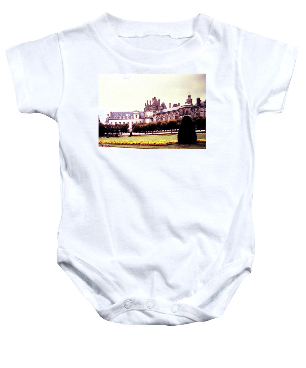 1955 Baby Onesie featuring the photograph Palace Of Fontainebleau 1955 by Will Borden
