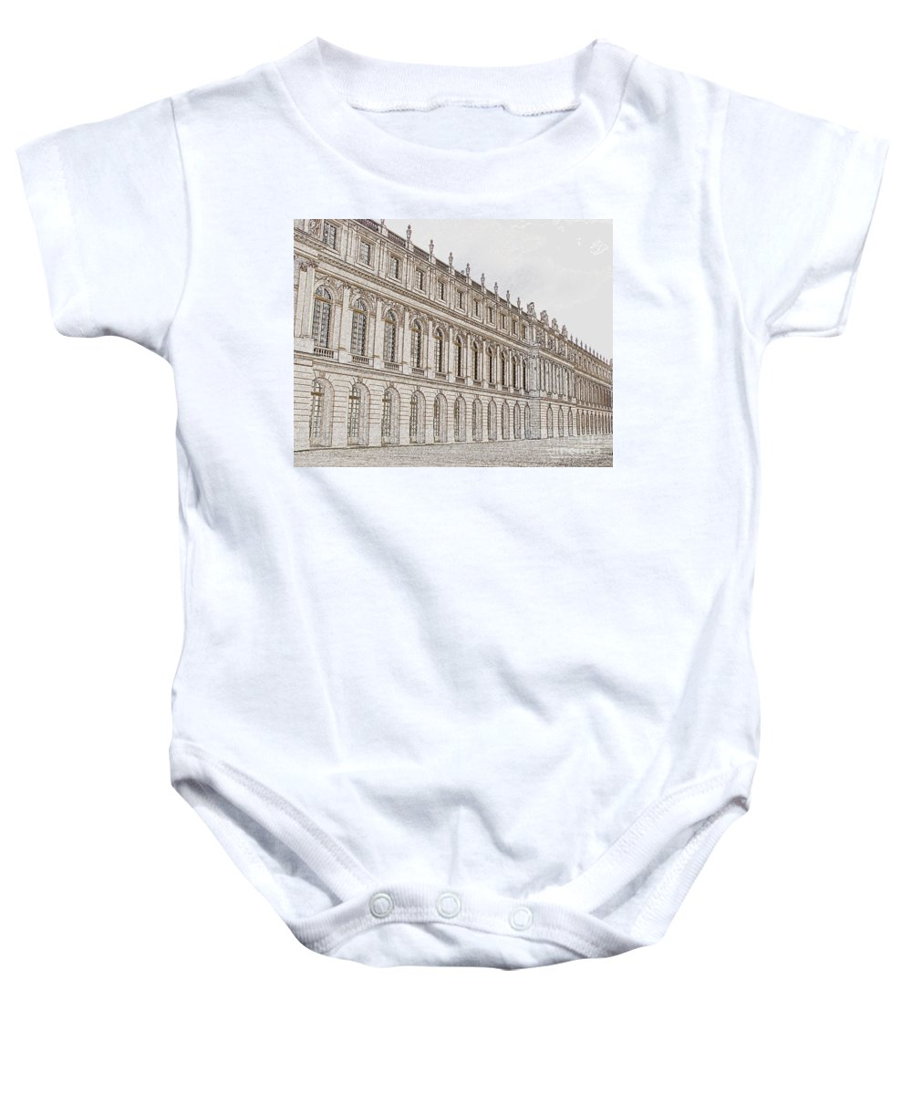 France Baby Onesie featuring the photograph Palace Of Versailles by Amanda Barcon