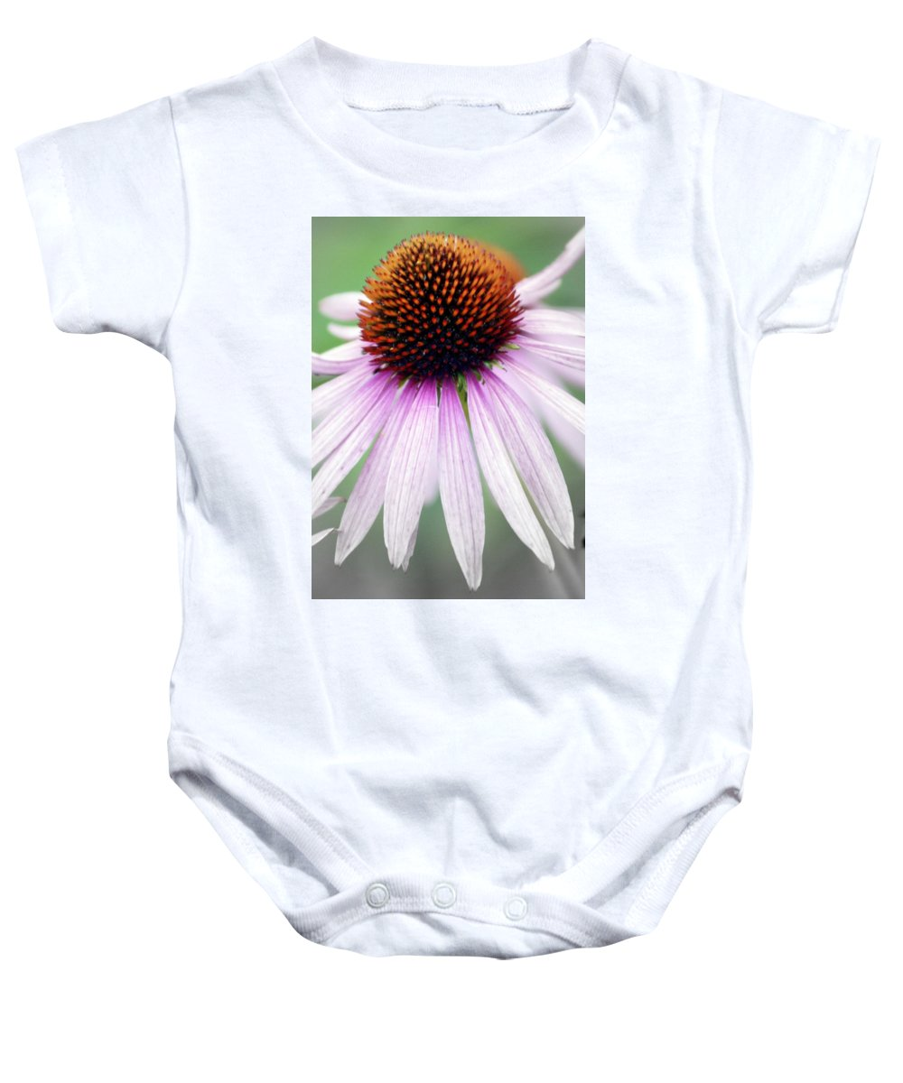 Flowers Baby Onesie featuring the photograph Pale Grey by Marty Koch