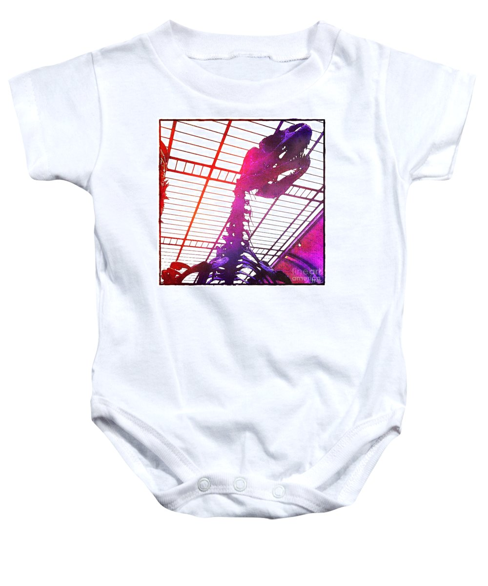 Tyrannosaurus Baby Onesie featuring the photograph Paleo Rex by Helge