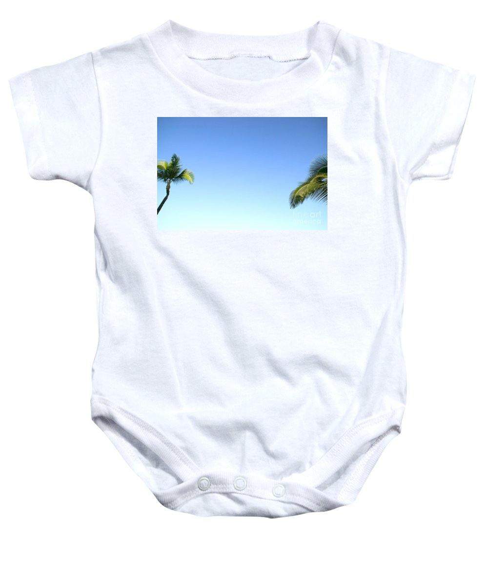 Afternoon Baby Onesie featuring the photograph Palm Abstract by Dana Edmunds - Printscapes