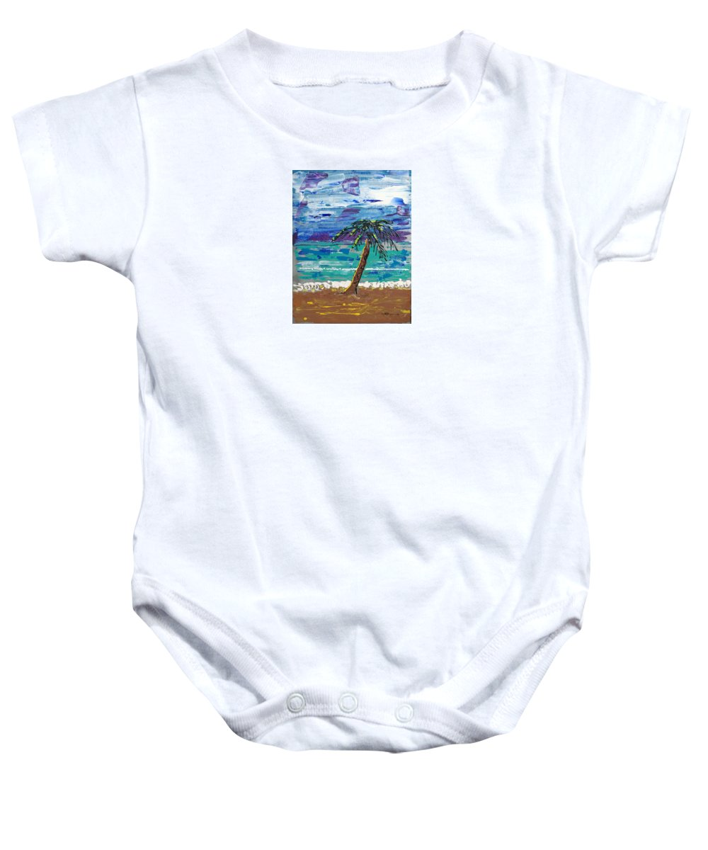 Impressionist Painting Baby Onesie featuring the painting Palm Beach by J R Seymour