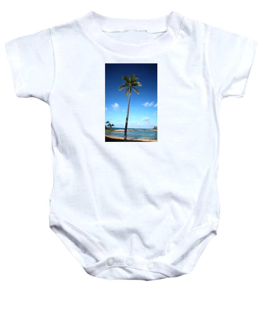 Hawaii Baby Onesie featuring the photograph Palm Day by Jun TR