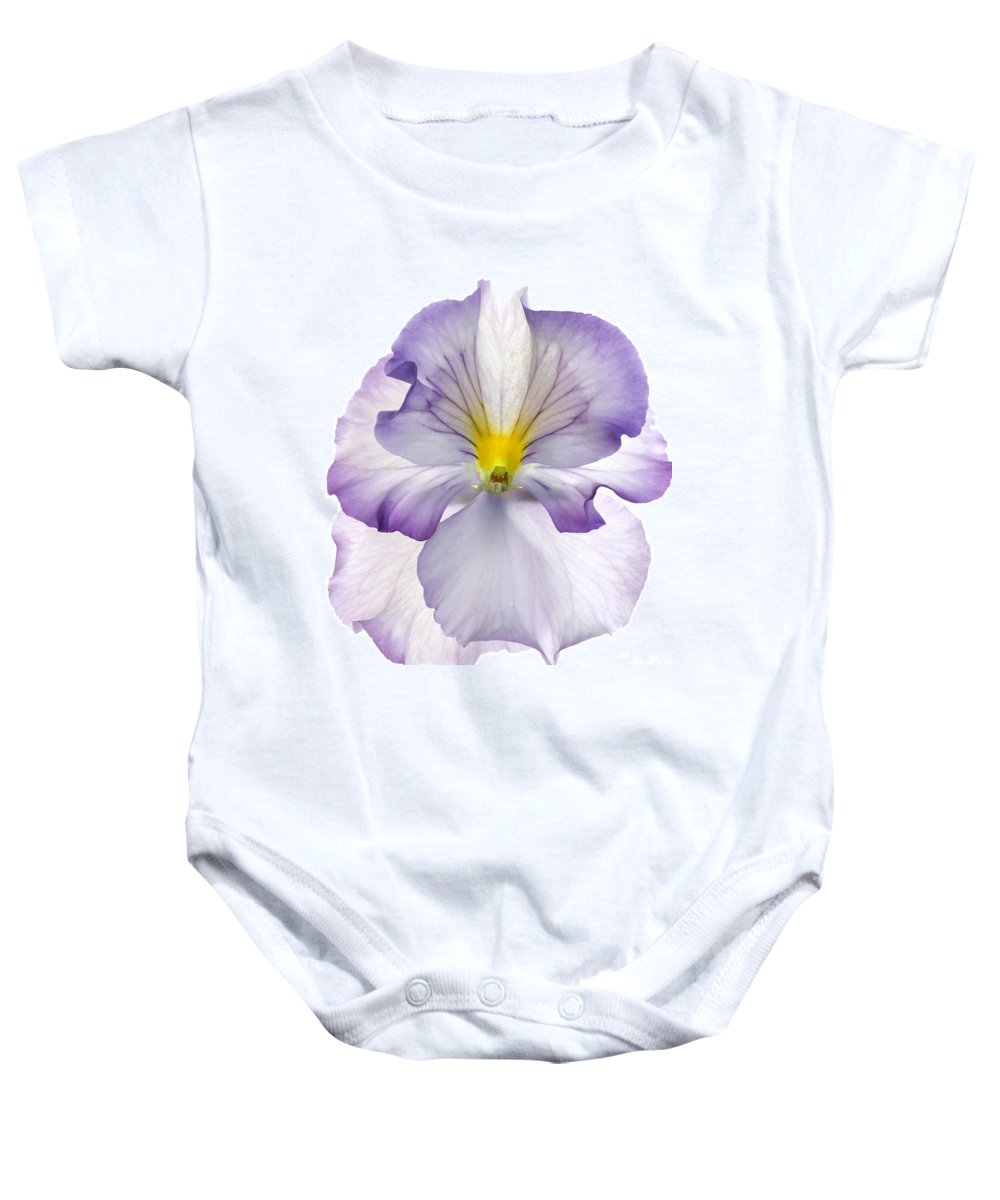 Pansy Genus Viola Baby Onesie featuring the photograph Pansy by Tony Cordoza