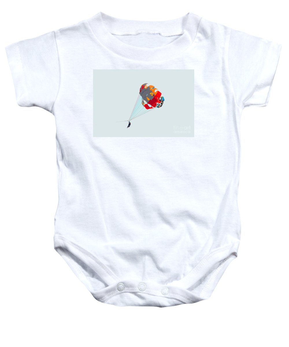 Para Sailing Baby Onesie featuring the photograph Para Sailing by David Lee Thompson