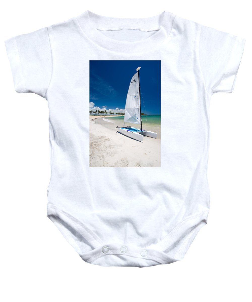 Island Baby Onesie featuring the photograph Paradise Island by Sebastian Musial