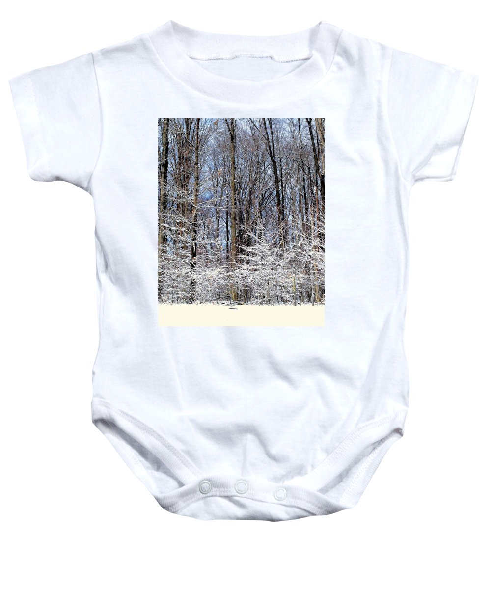 Trees Baby Onesie featuring the photograph Parents With Children by Frozen in Time Fine Art Photography