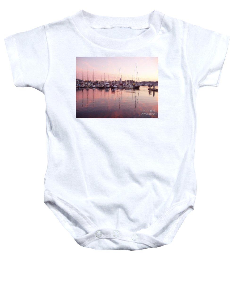 Pastel Baby Onesie featuring the photograph Pastel Waters by Deborah Crew-Johnson
