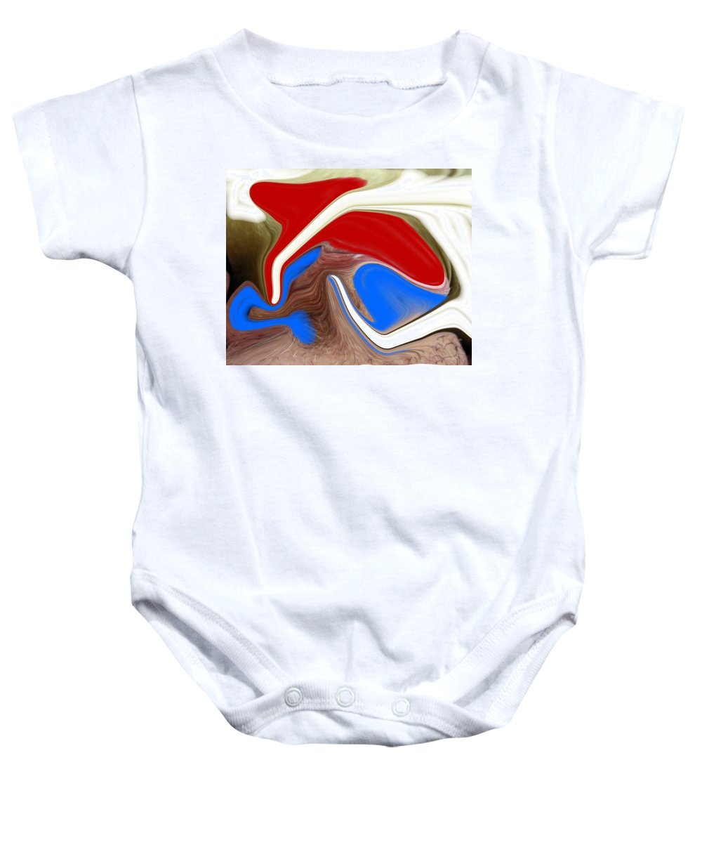 Abstract Baby Onesie featuring the photograph Patriot by Allan Hughes