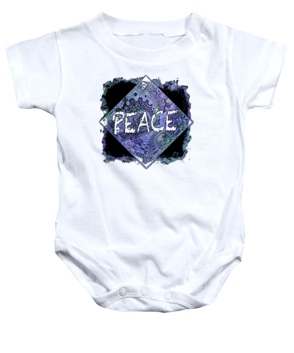 Berry Baby Onesie featuring the photograph Peace Berry Blues 3 Dimensional by Di Designs