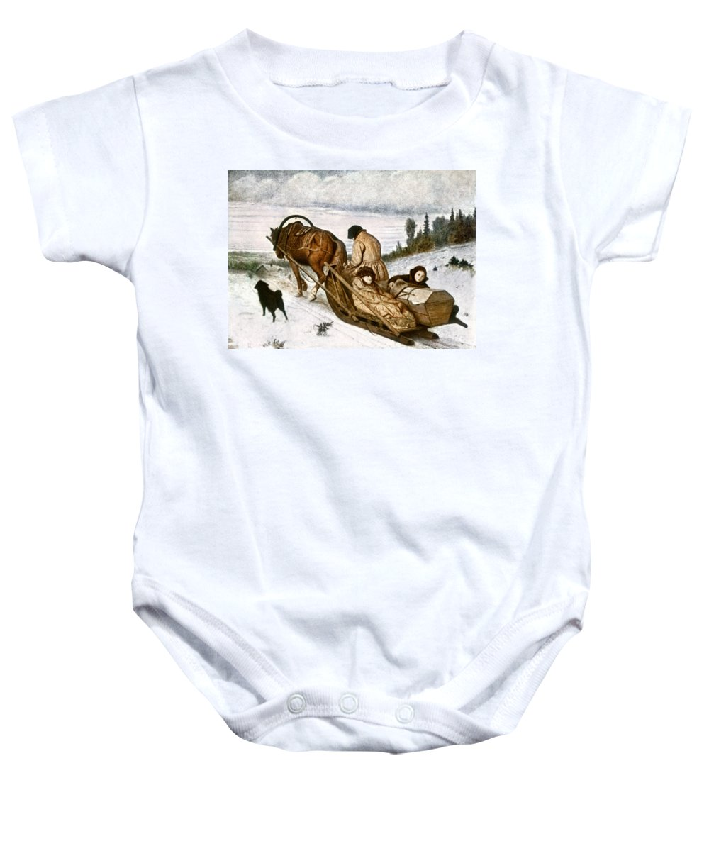 1865 Baby Onesie featuring the photograph Perov: Dead, 1865 by Granger