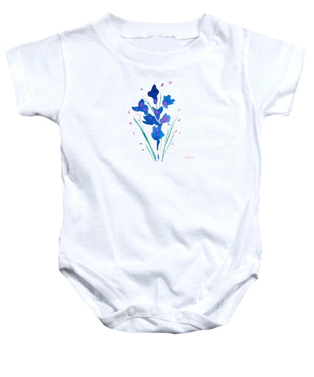 Petit Baby Onesie featuring the painting Petit Bouquet by Genevieve Chausse