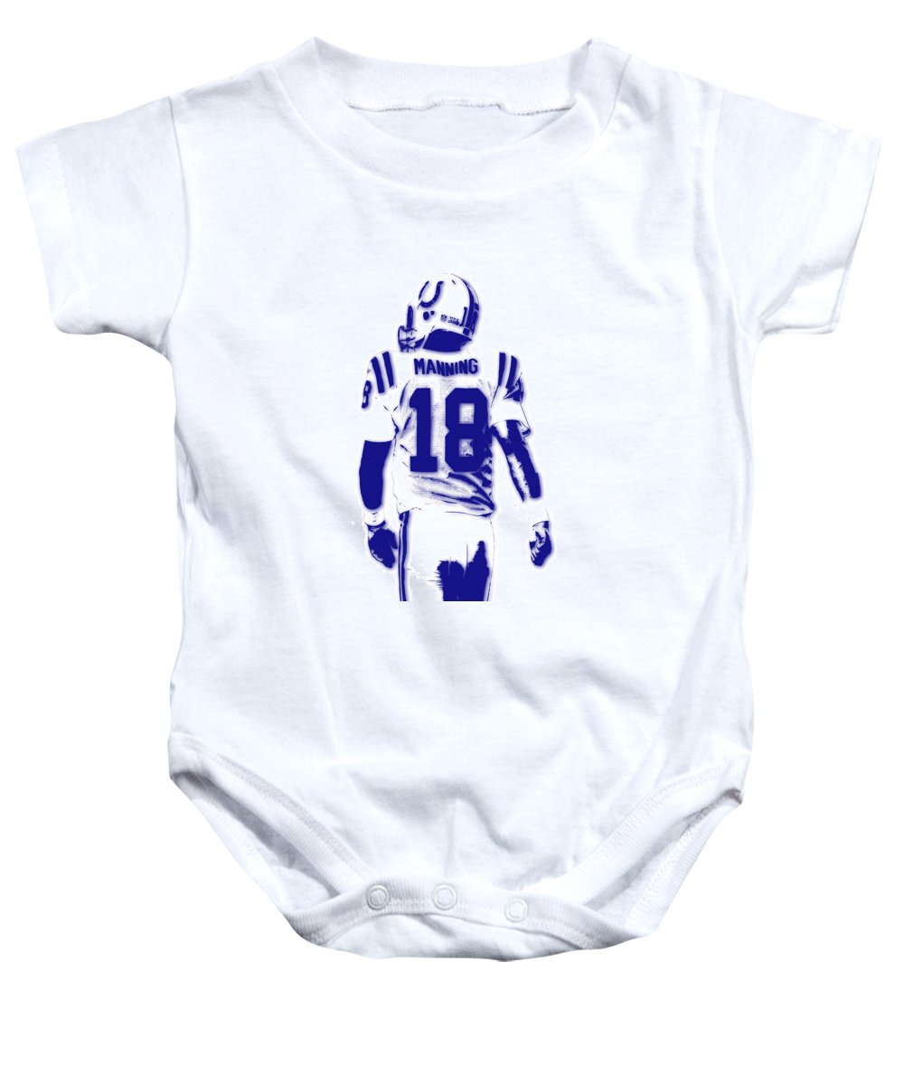 895a81442 Colts Baby Onesie featuring the photograph Peyton Manning Colts 2 by Joe  Hamilton