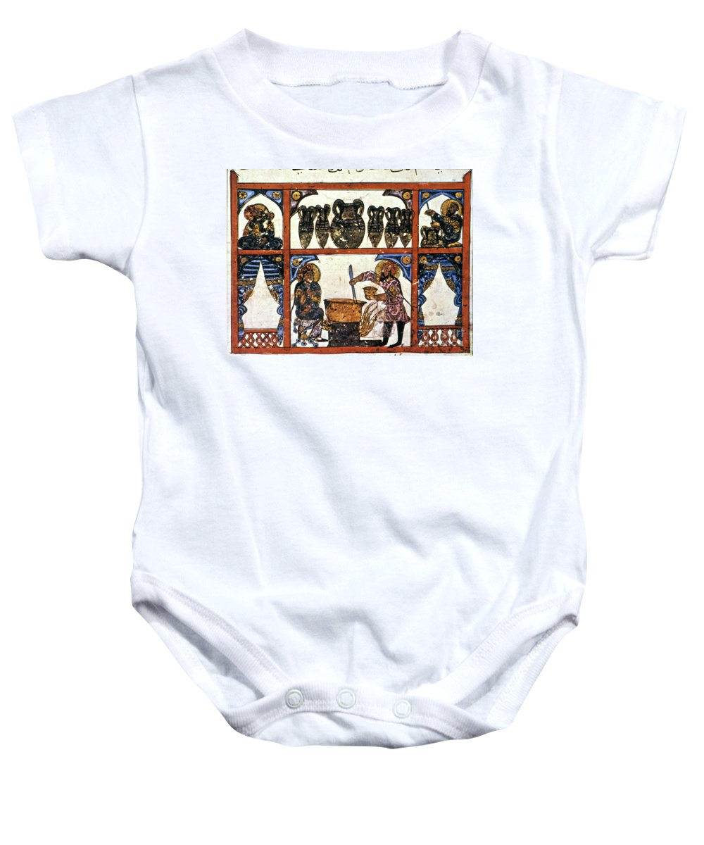 13th Century Baby Onesie featuring the photograph Pharmacy: Arabic Ms by Granger