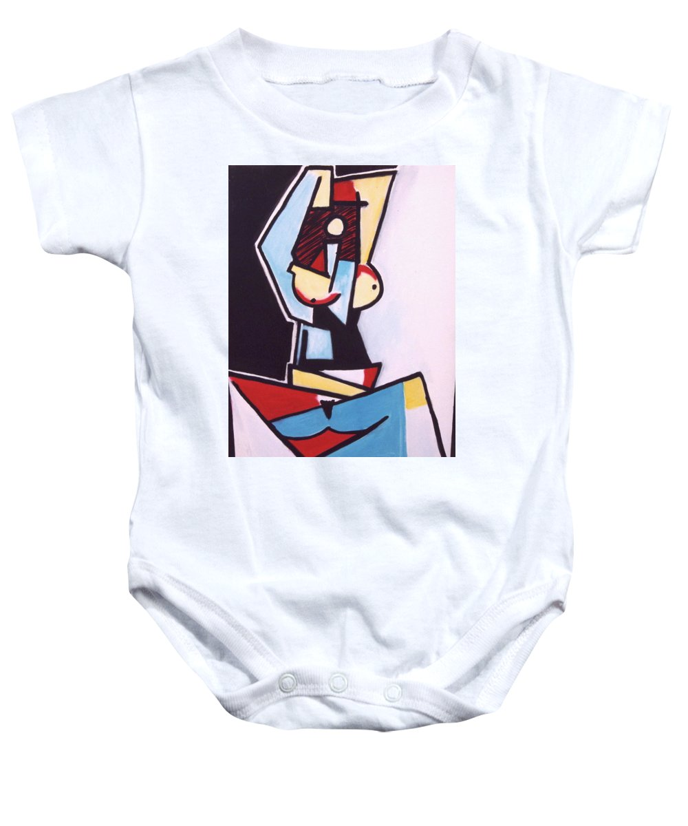 Picasso Baby Onesie featuring the painting Picasso by Thomas Valentine