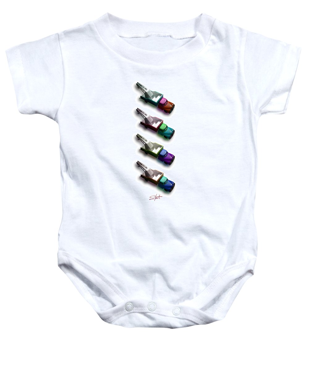 Toy Baby Onesie featuring the photograph Pick Me Up by Charles Stuart