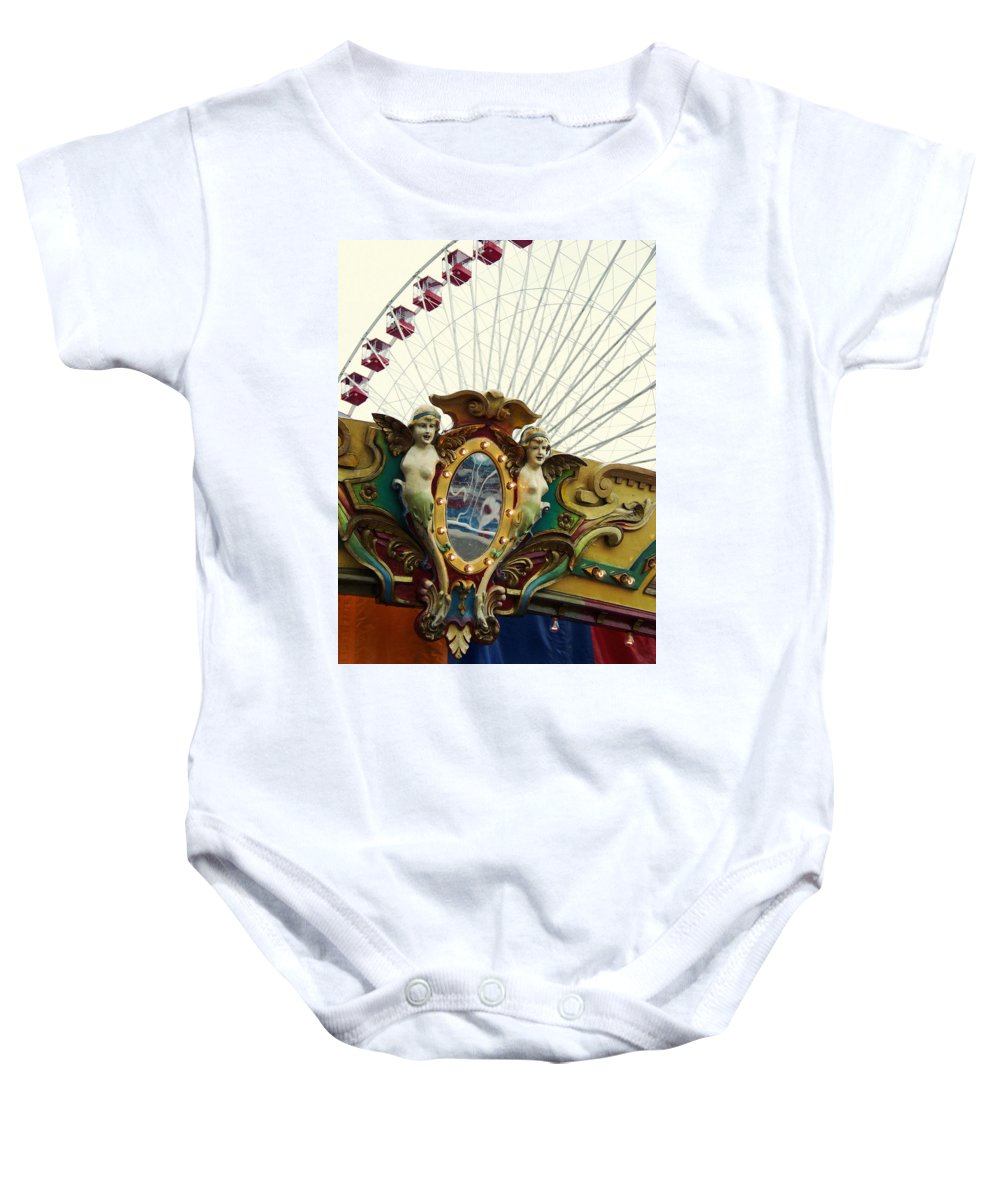 Navy Pier Baby Onesie featuring the photograph Pier Park Chicago by Kyle Hanson