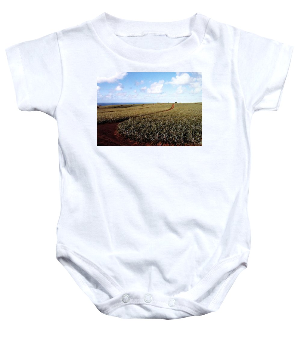 1986 Baby Onesie featuring the photograph Pineapple Fields by Will Borden
