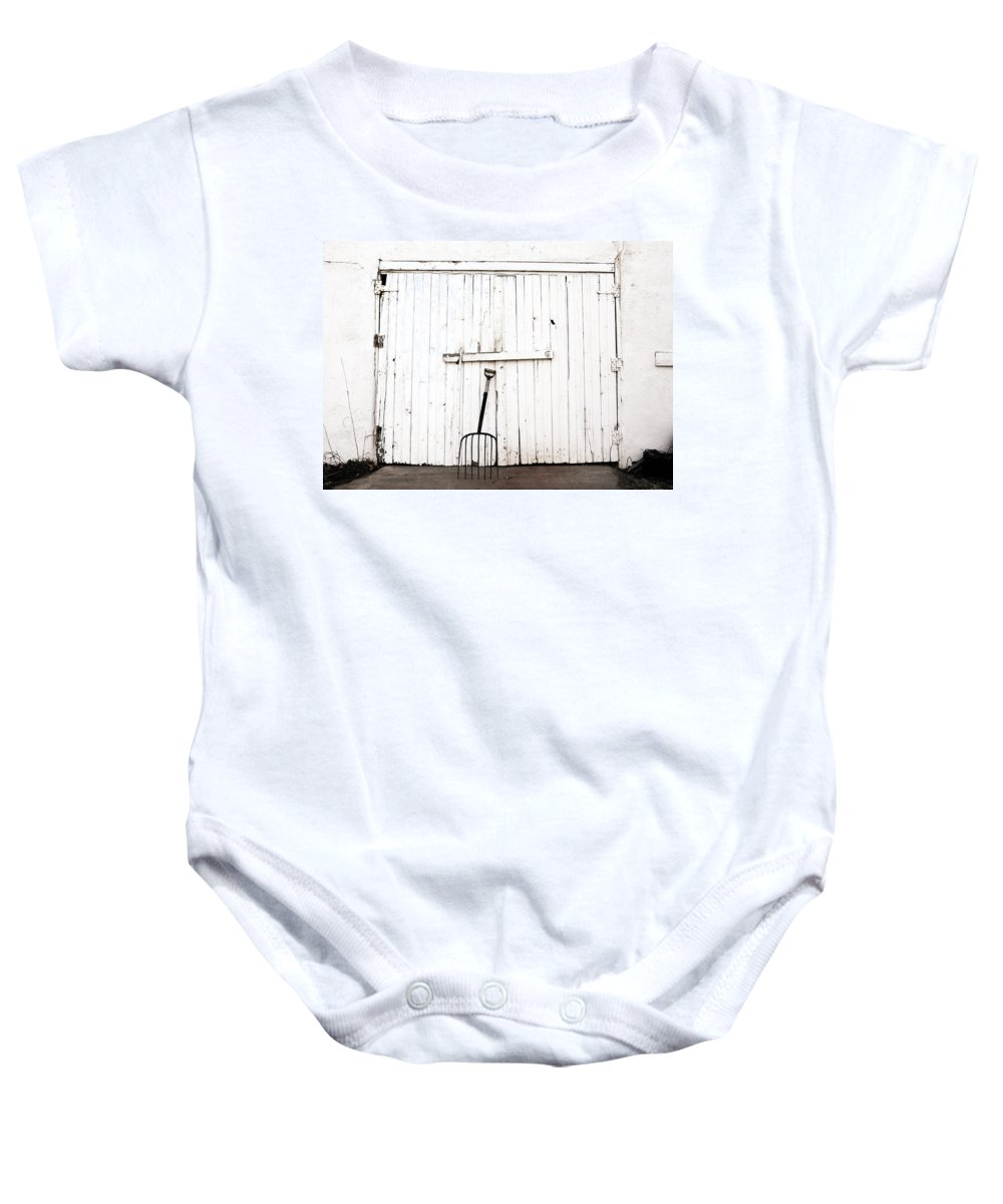 Americana Baby Onesie featuring the photograph Pitch Fork by Marilyn Hunt