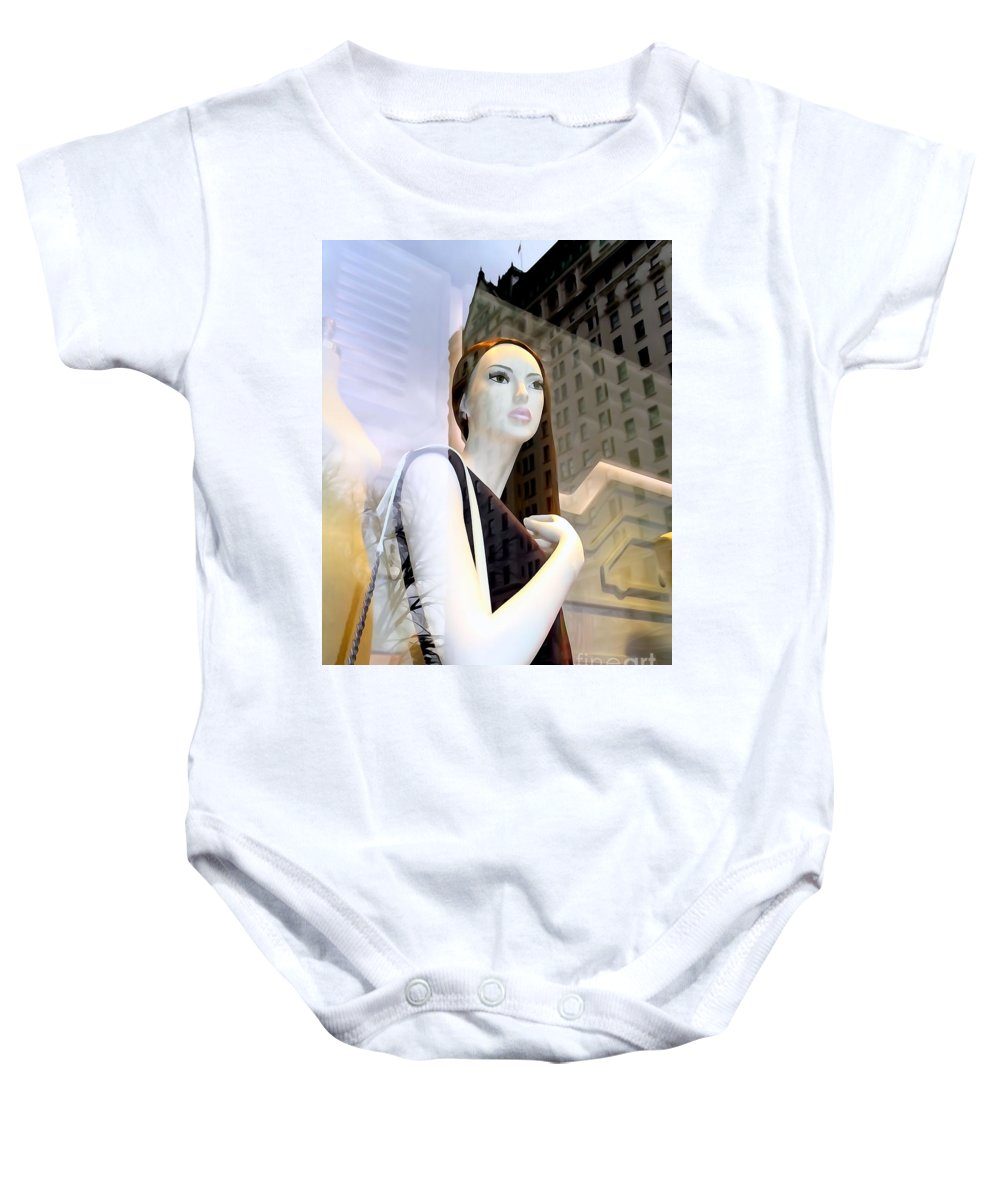 Digital Art Baby Onesie featuring the photograph Plaza View by Ed Weidman