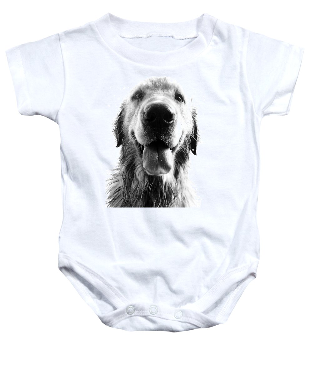 Argentina Baby Onesie featuring the photograph Portrait Of A Happy Dog by Osvaldo Hamer