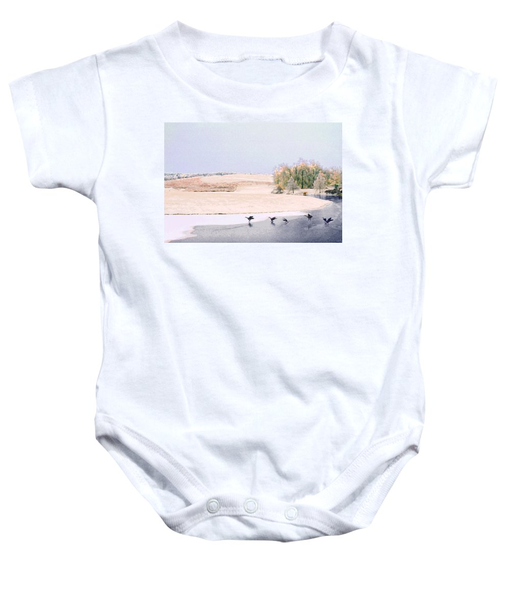Landscape Baby Onesie featuring the photograph Powell Gardens In Winter by Steve Karol