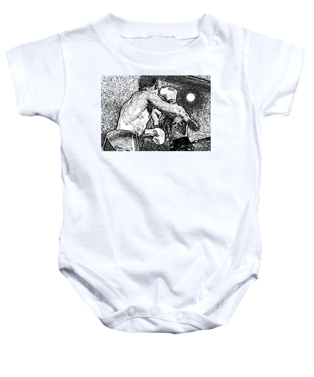 Prize Fighting Baby Onesie featuring the photograph Prize Fighters by David Lee Thompson