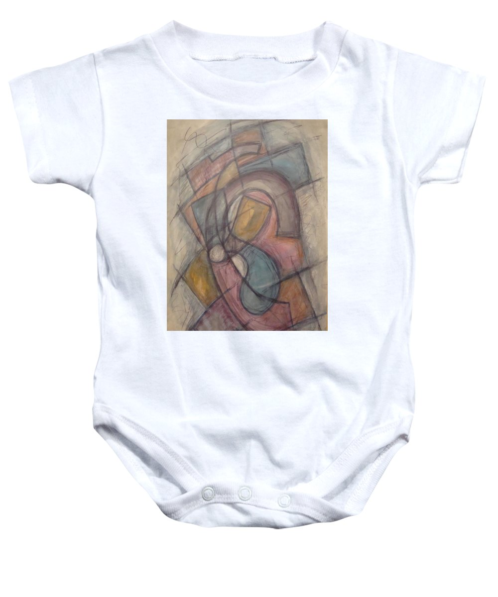 Pure Abstract Baby Onesie featuring the painting Propeller by W Todd Durrance