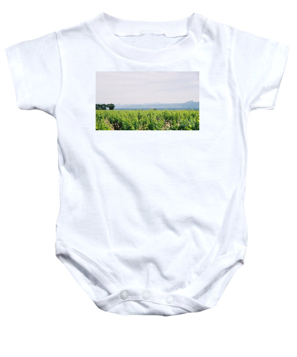 France Baby Onesie featuring the photograph Provence Spring Vineyard by Nadine Rippelmeyer