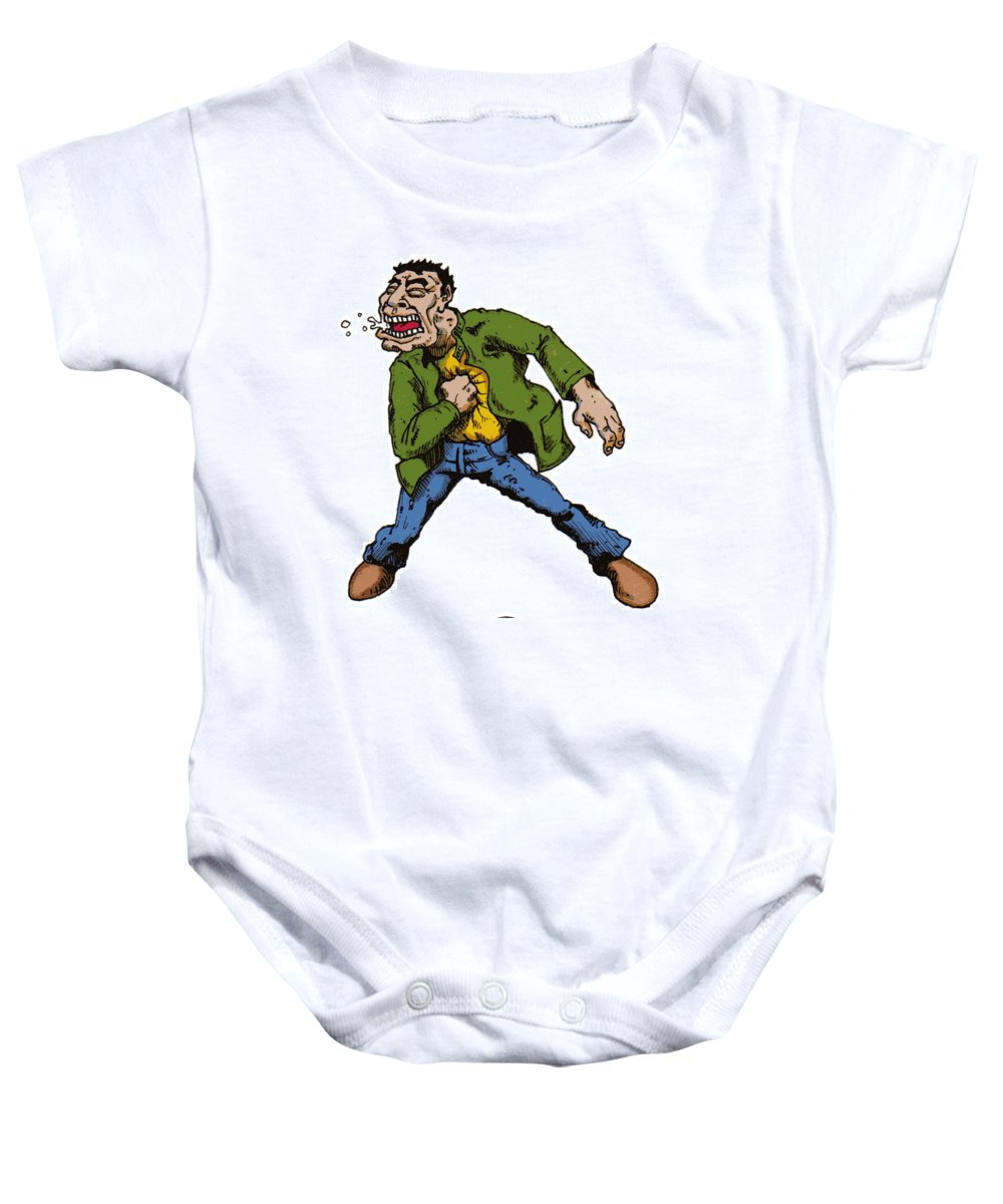 Illustration Baby Onesie featuring the drawing Punch by Tobey Anderson