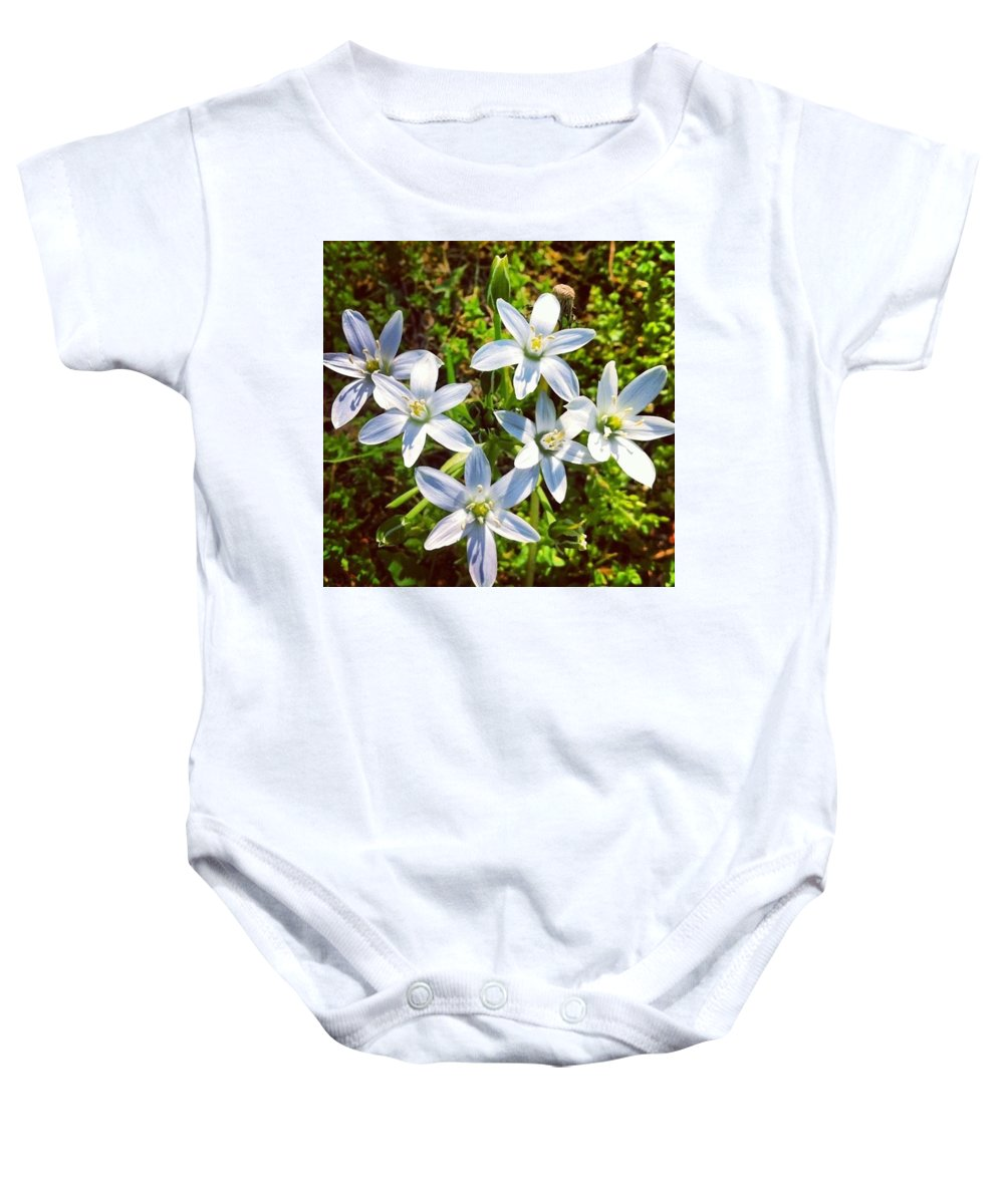 Flowers Baby Onesie featuring the photograph Pure by Shaylea Teel