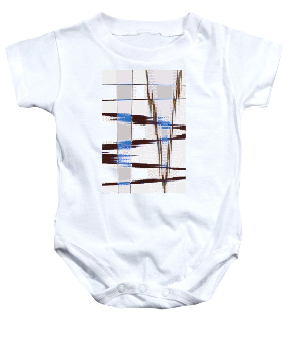 Abstract Baby Onesie featuring the digital art Quiet Abstract by Lenore Senior
