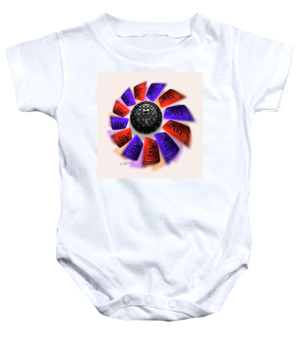 Urban Baby Onesie featuring the photograph Rally by Charles Stuart