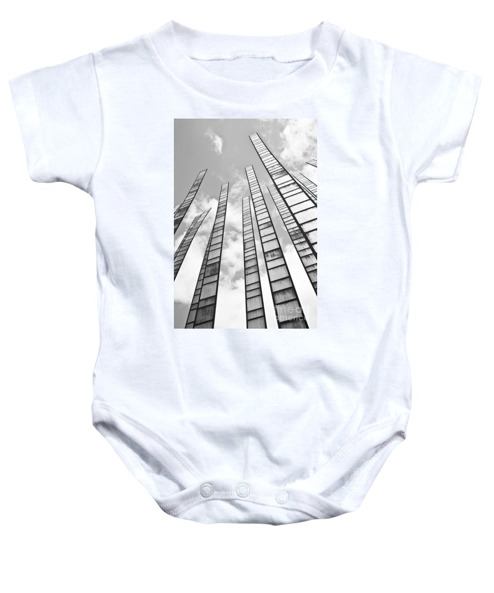 Seattle Baby Onesie featuring the photograph Reach For The Sky by Chris Dutton