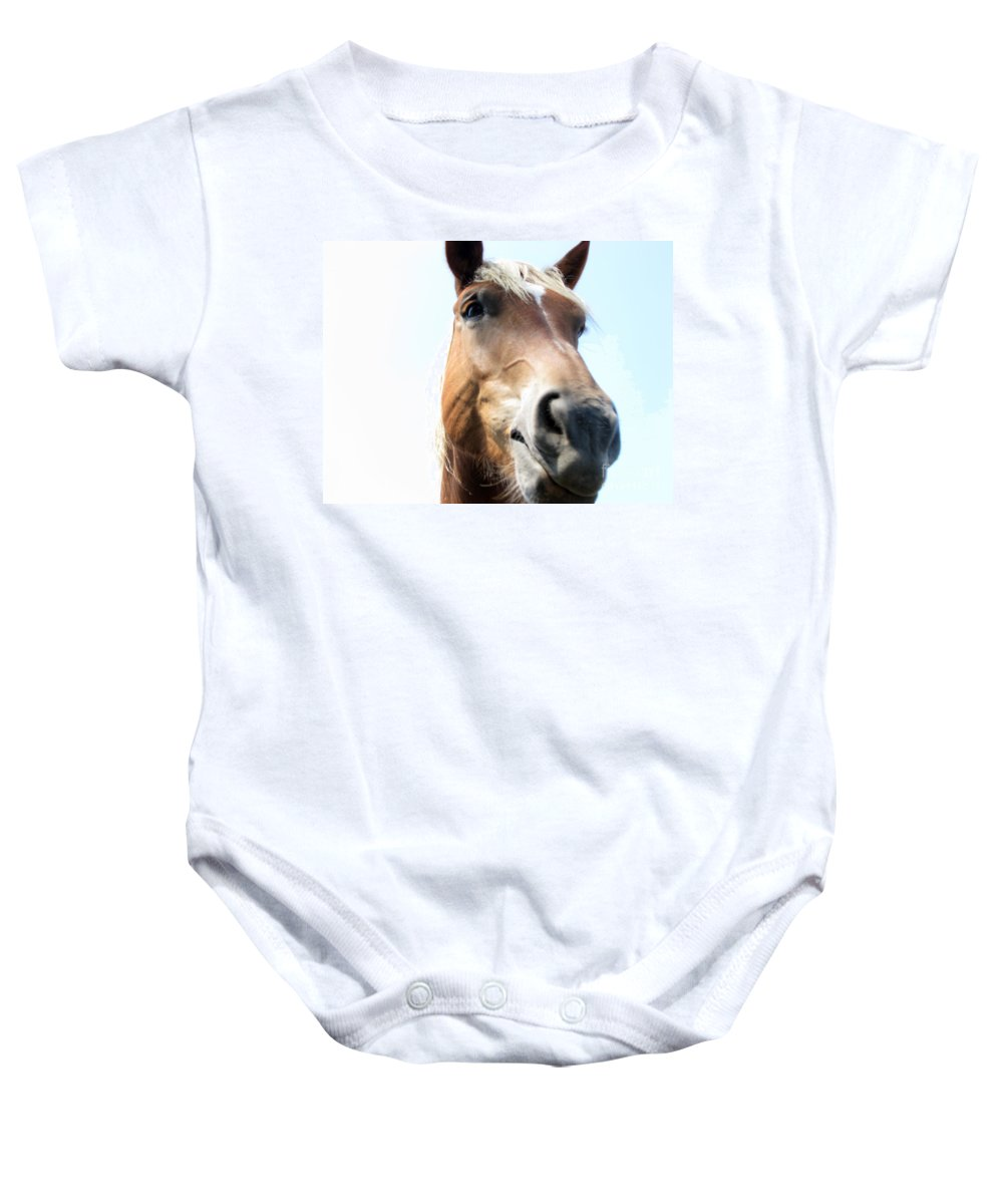 Horse Baby Onesie featuring the photograph Really by Amanda Barcon