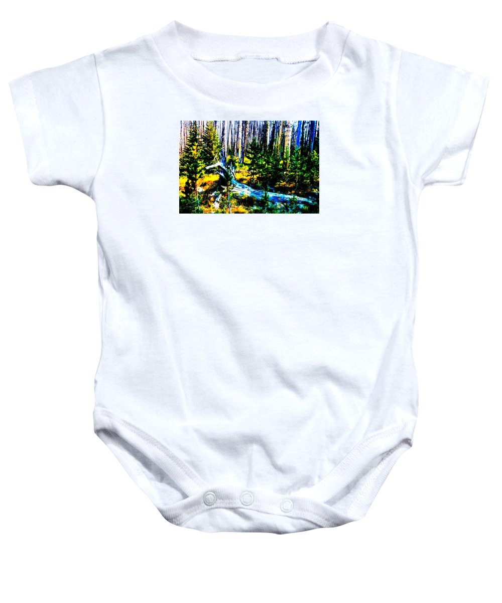 Color Baby Onesie featuring the photograph Rebirth In Yellowstone by Rusty Ruckel