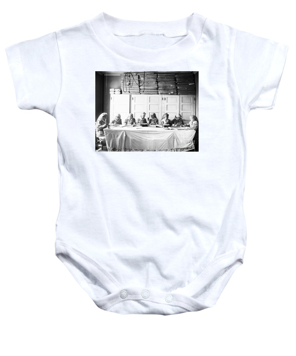 1920 Baby Onesie featuring the photograph Red Cross: Braille Magazine by Granger