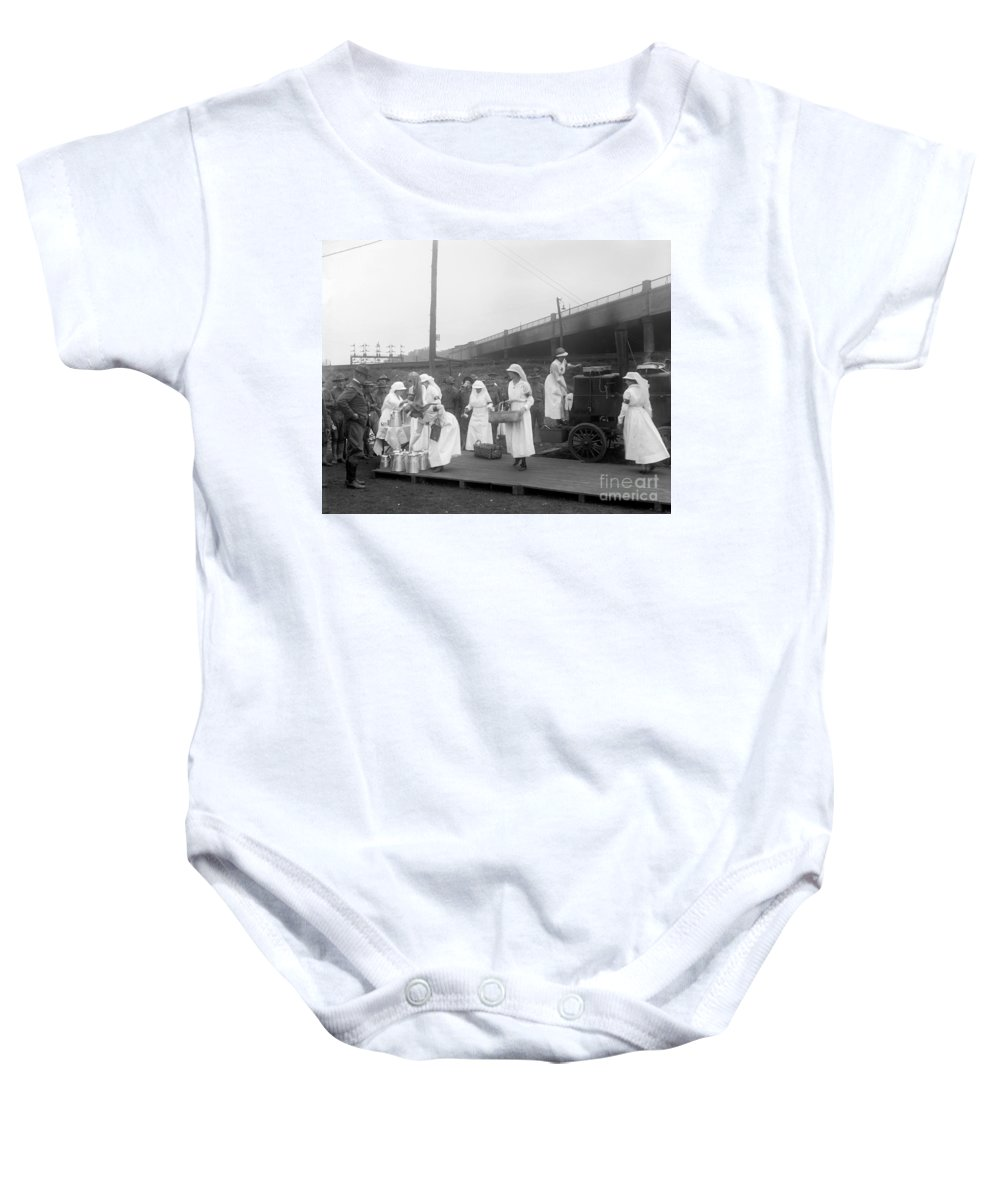 1918 Baby Onesie featuring the photograph Red Cross: Canteen, C1918 by Granger