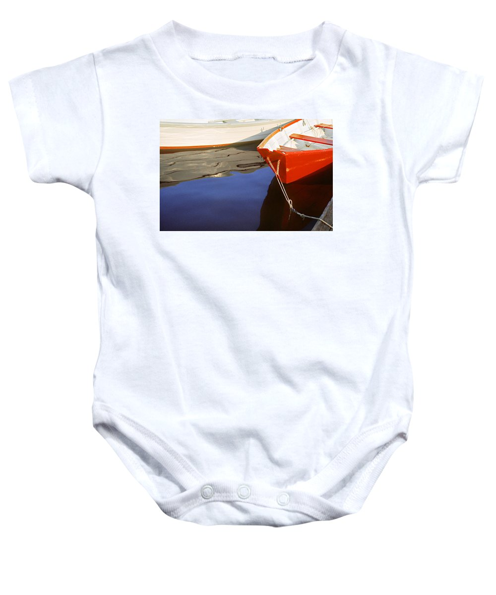 Dory Baby Onesie featuring the photograph Red Dory Photo by Peter J Sucy