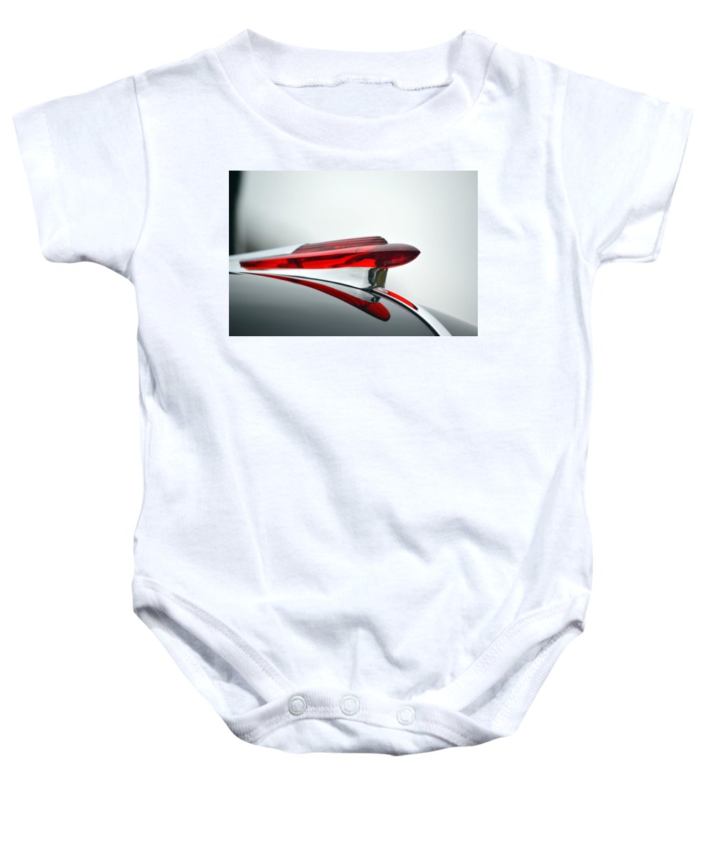 Baby Onesie featuring the photograph Red Hood Ornament by Dean Ferreira