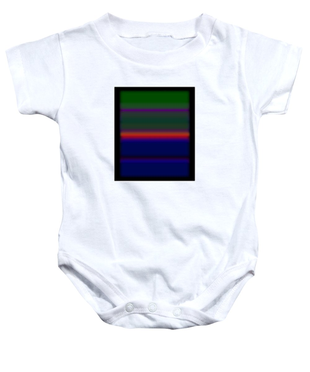 Storm Baby Onesie featuring the painting Red Sky In The Morning by Charles Stuart