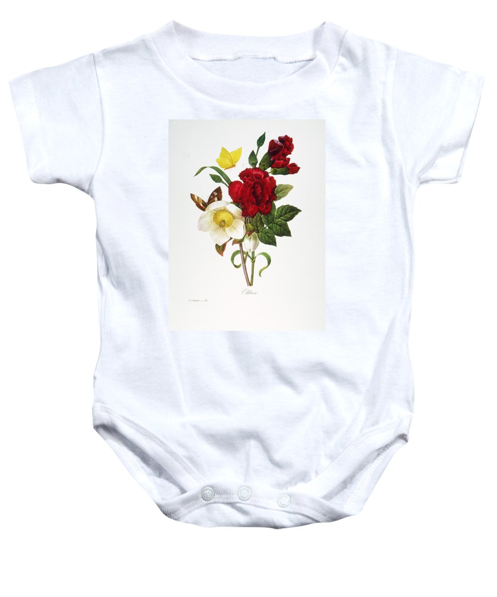 1833 Baby Onesie featuring the photograph Redoute: Hellebore, 1833 by Granger