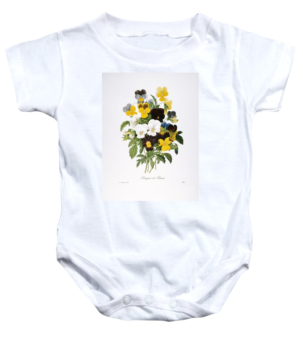 1833 Baby Onesie featuring the photograph Redoute: Pansy, 1833 by Granger