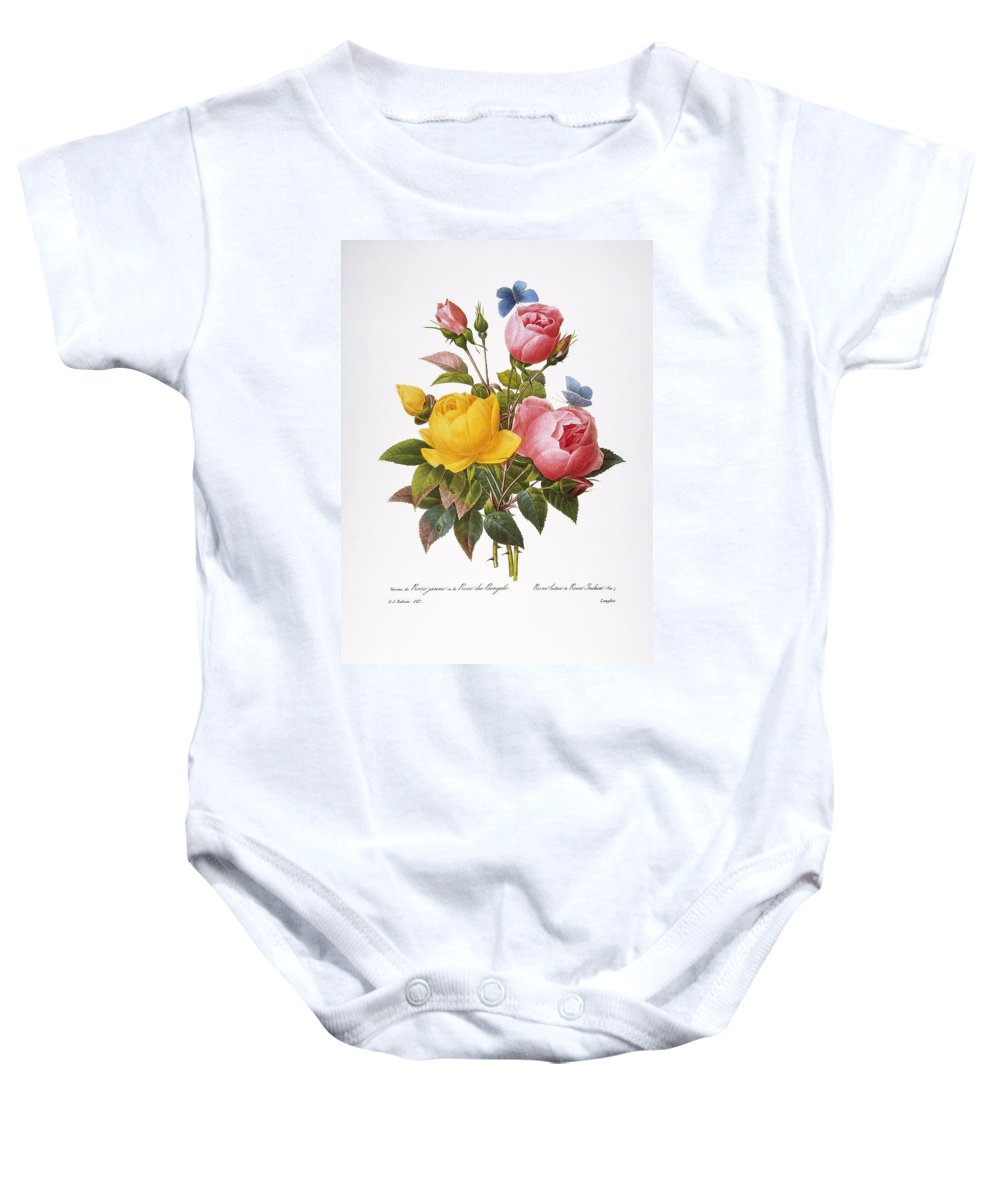 1833 Baby Onesie featuring the photograph Redoute: Roses, 1833 by Granger
