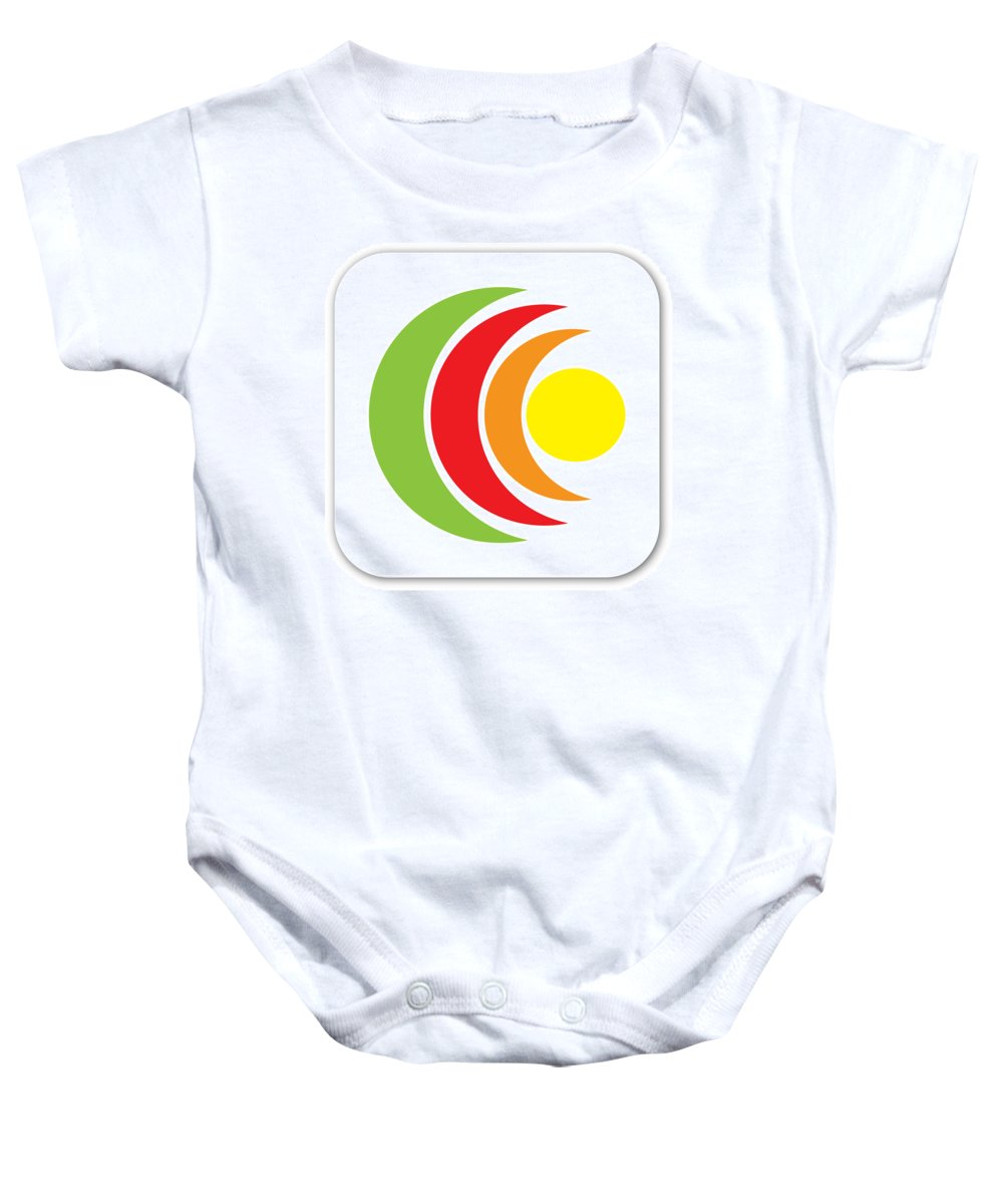 App Icon Sample Design Baby Onesie featuring the photograph Remix - App Icon by Alex Art and Photo